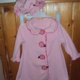 Haine Copii 1 - 3 ani - Set palton si caciula