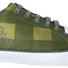 Tenisi Kappa K-Vulcanized - tenisi barbati - originali - adidasi kappa - panza - in cutie - 43(27.5cm), Culoare: Verde, Textil