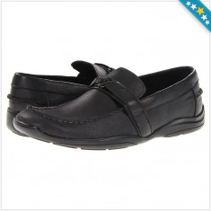 100% AUTENTIC - Mocasini GUESS Ansley - Pantofi Piele Naturala - Mocasini Barbati - Mocasini Originali GUESS, Marime: 41, 42, Culoare: Negru