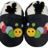 Botosi din piele naturala moale, 0 - 6 luni - Botosi copii, Multicolor