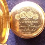 Ceas de buzunar Prima Patent -montura aur; Grand Prix 1889 Paris /1896 Geneva