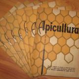Revista APICULTURA, 7 numere (1, 2, 3, 6, 8, 9, 10) 1964 (stuparit, albinelor, stuparului, albinarit) 10 lei/revista