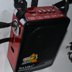 Aparat radio - Radio Boxa Portabila Waxiba MP3 player microfon lanterna