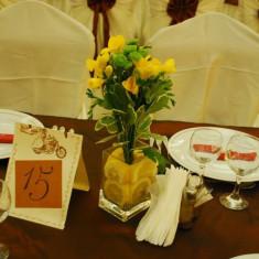 Vaza din sticla transparenta - Suport flori