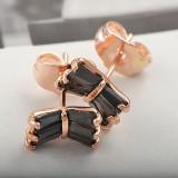 Cercei aur filat 9k cu Onix negru, CR18 - LIVRARE GRATUITA! - Cercei cu diamante