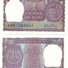 India 1 Rupie 1980 P-77 UNC !!!