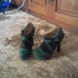 Pantofi dama - Pantof dama, Marime: 37, Culoare: Verde, Verde