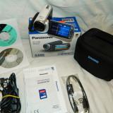 Camera video Panasonic HC-V100 FullHD 1080i pe card memorie, Alb, Stabilizare optica (filmare fara tremurat), sub 3 Mpx, MOS, 2 - 3
