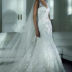 Rochie de mireasa PRONOVIAS, cu aplicatii de cristale Swarovski - Rochie de mireasa sirena