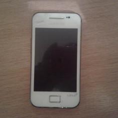Samsung S5830 Galaxy Ace Pure White La Fleur - Telefon mobil Samsung Galaxy Ace, Alb, Neblocat