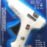 Pistol de lipit cu silicon cu buton de on off
