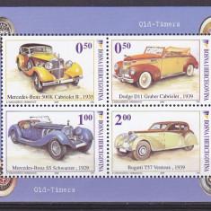 Timbre straine, Europa - Transporturi masini vechi, Mercedes, Bugatti, Bosnia Hertegovina.
