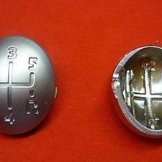 Nuca schimbator - Capac ornament schimbator 5+1 viteze cromat Renault Kangoo