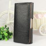 Husa neagra piele iphone 5 toc pantaloni + folie display