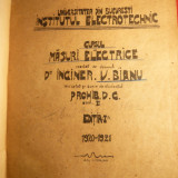 Ing. V.Bianu -Curs de Masuri Electrice -Prima Ed. 1920 -Manuscris