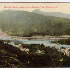 Carti Postale Romania 1904-1918, Necirculata, Printata - CALIMANESTI -VEDERE GENERALA CU HOTEL JANTEA, POD PESTE OLT