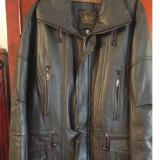 Haina din piele - Palton barbati, Marime: 50, Culoare: Maro