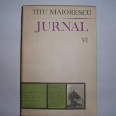 Biografie - Jurnal vol. VI -Titu Maiorescu, r32
