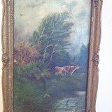 Pictura - ulei pe panza lipita pe carton semnata - Pictor roman