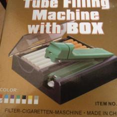 Aparat rulat tigari - Aparat de injectat tutun in tuburi cu cutie de depozitare - 20 lei