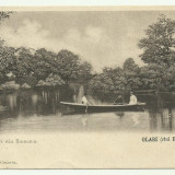 Salutari din Romania : Olari (raul Burlui) jud.Olt - circulata 1902, timbru, stampila tren