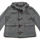 Palton / Geaca gri  Zara Man cu gluga - masura M (Medium) - NOUA CU ETICHETA ! Pret magazin Anglia  £60 !