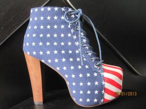 pantofi cu platforma ....steagul americii foto