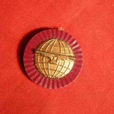 Piese Ceas - Sigiliu Reclama Ceas Longines cca.1967 -plastic metalizat