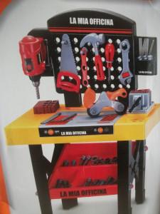 Banc de lucru cu scule si unelte pentru copii foto