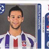 Cartonas de colectie - Abtibild Panini Punosevac Otelul Galati UEFA Champions League 2011-2012