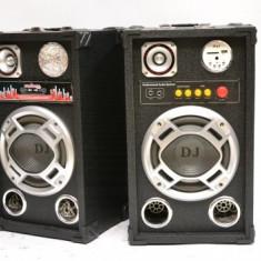 Echipament karaoke - PERECHE 2 BOXE ACTIVE/STATIE SI MIXER INCLUS, 200 WATT MAXIM, MP3 PLAYER, EFECTE+2 MICROFOANE BONUS!