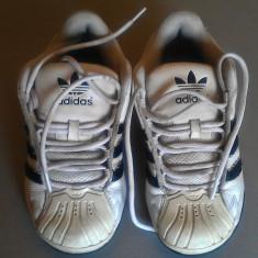 Adidasi piele originali marca Adidas, nr 38 (unisex) - Adidasi dama, Culoare: Alb