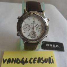 Breil Milano Chronograph Swiss Made Stainless Steel In Cutie & Acte - Ceas barbatesc Breil, Elegant, Quartz, Inox, Piele, Cronograf