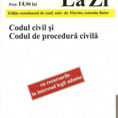 (C3956) CODUL CIVIL SI CODUL DE PROCEDURA CIVILA, EDITIE COORDONATA DE CONF. UNIV. DR. FLAVIUS-ANTONIU BAIAS, EDITURA C.H. BRCK - Carte Drept civil