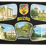 Carte postala(marca fixa)--BUZAU-colaj