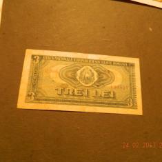 Bancnote Romanesti - 3 lei 1966
