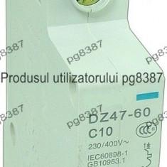 Siguranta automata, 10A, cu fixare pe sina DIN, Disjunctor 10A, cu fixare pe sina DIN-111880