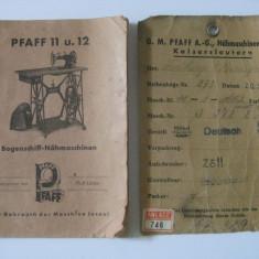 Diploma/Certificat - REDUCERE 20 LEI! RARE! CERTIFICAT DE GARANTIE, INSTRUCTIUNI UTILIZARE SI PASAPORTUL UNEI MASINI GERMANE DE CUSUT MARCA PFAFF DIN 1938
