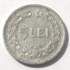 Monede Romania, An: 1949 - G2. ROMANIA 5 LEI 1949 **
