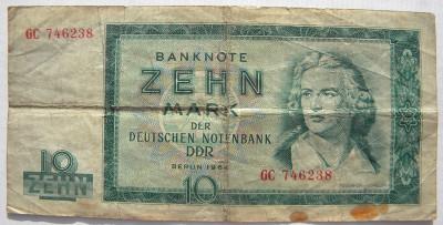 Germania 10 Mark Marci 1964 foto