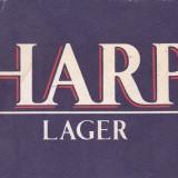 Cartonas de colectie - Suport de pahar / Biscuite HARP LAGER