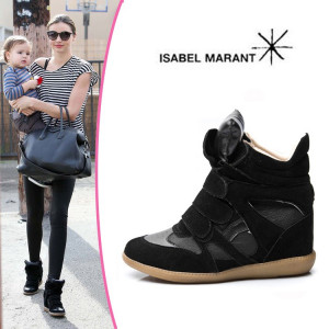 Ghete/Sneakers ISABEL MARANT de dama/femei Negru - POZE REALE foto
