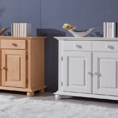 Comoda 2 usi si 2 sertare din lemn masiv de rasinoase - Comoda dormitor