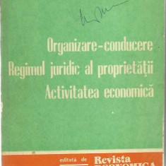 ORGANIZARE-CONDUCERE, REGIMUL JURIDIC AL PROPIETATII, ACTIVITATEA ECONOMICA
