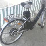 Bicicleta de oras, 26 inch, Otel, Negru, Curbat(Risebar), Aliaje de aluminiu - Bicicleta