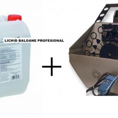 Masina de balonase - PROMO! MASINA PROFESIONALA BALOANE SAPUN + BIDON LICHID BALOANE. BALOANE SAPUN .