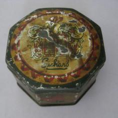 Cutie Reclama - CUTIE METALICA PENTRU BOMBOANE SUCHARD DIN ANII 30