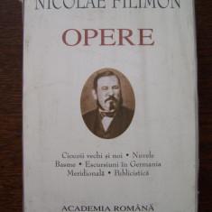 Carte de lux - N.FILIMON - OPERE: CIOCOII VECHI SI NOI / NUVELE / BASME (editie de lux), 2005