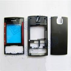 Vand Carcasa Nokia X3 Noua Completa Neagra Negru Black cu Rosu