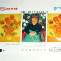 Cartela / Card Japonia - ARTA, PICTURA, VAN GOGH  -   2+1 gratis toate licitatiile - RBK2378